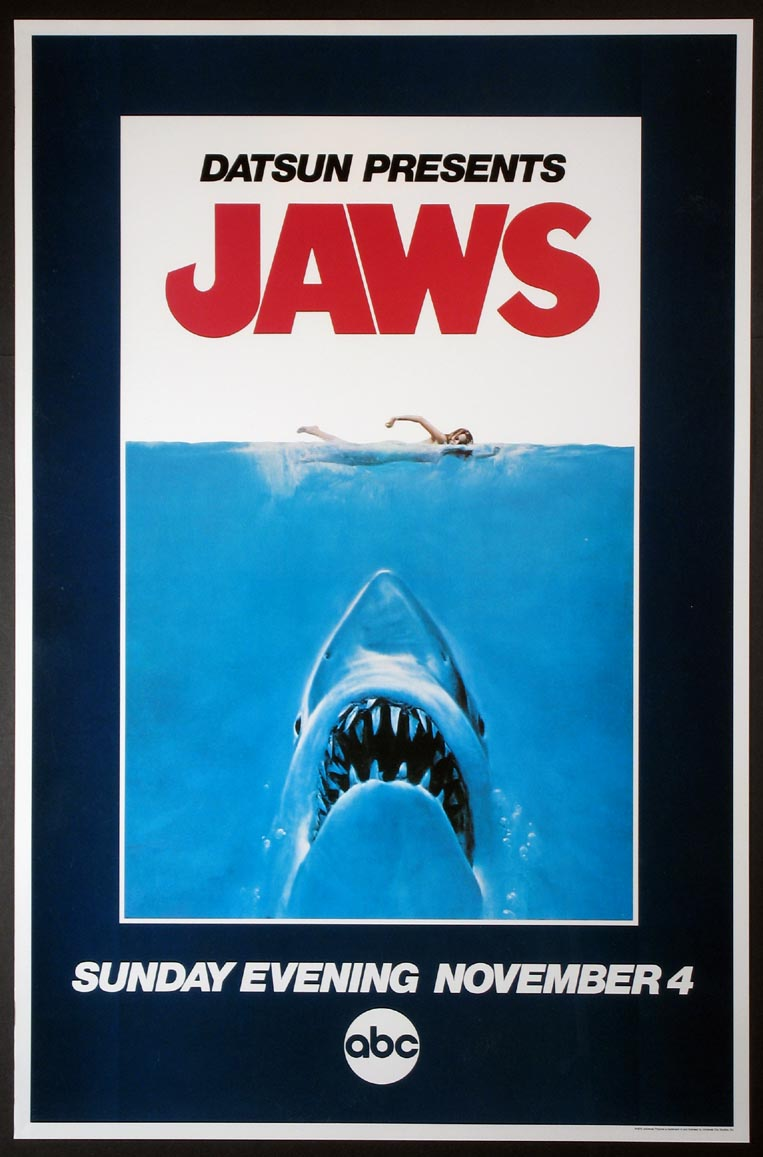 JAWS TELEVISION DEBUT POSTER @ FilmPosters.com