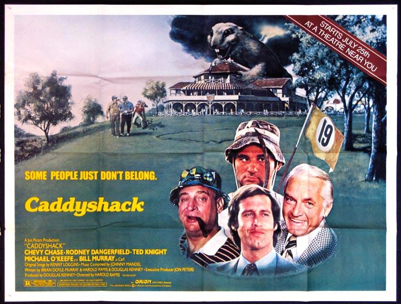 Framed caddyshack movie poster