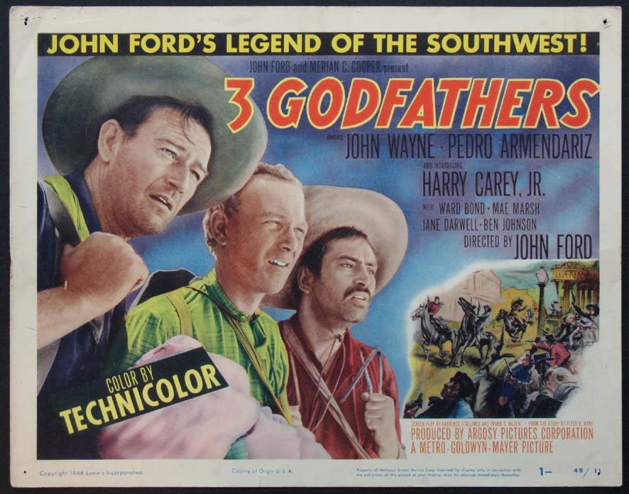 THREE GODFATHERS (3 Godfathers) @ FilmPosters.com