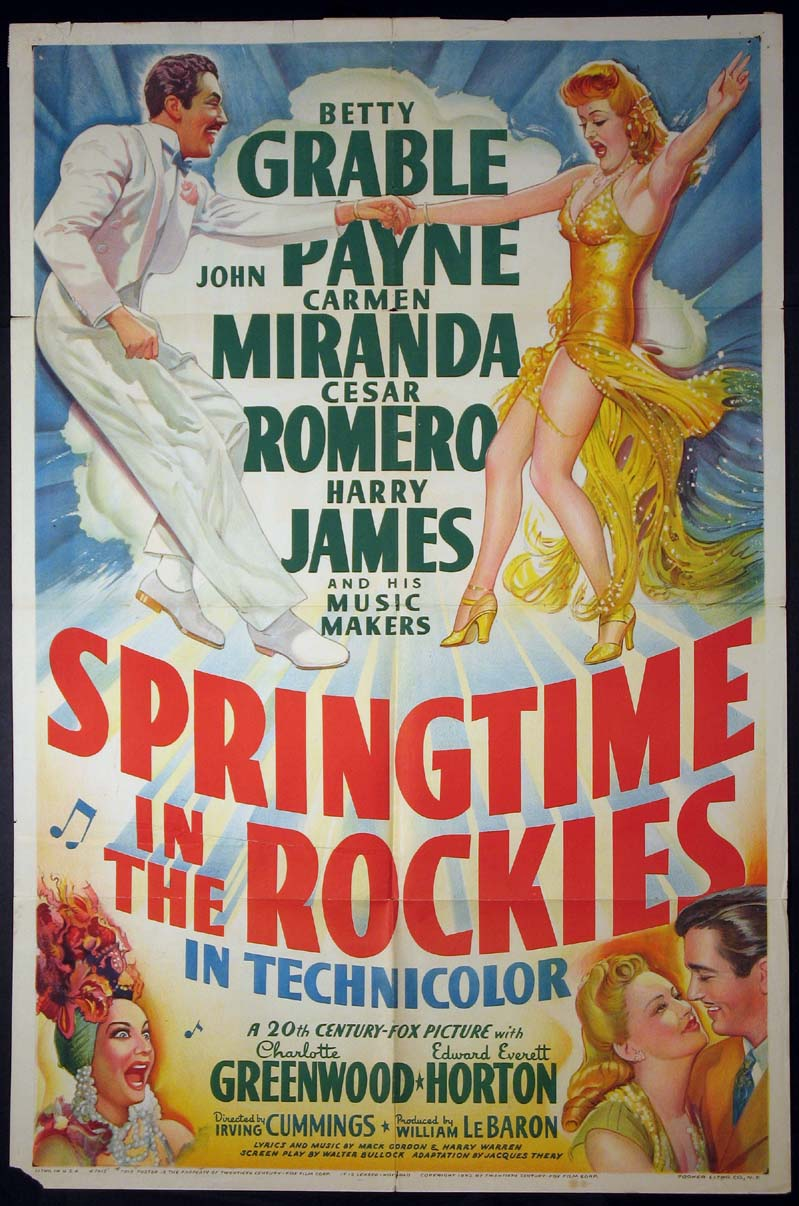 SPRINGTIME IN THE ROCKIES @ FilmPosters.com