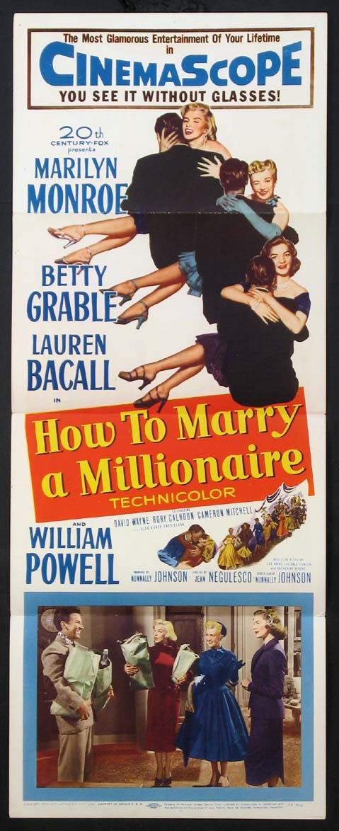 HOW TO MARRY A MILLIONAIRE @ FilmPosters.com