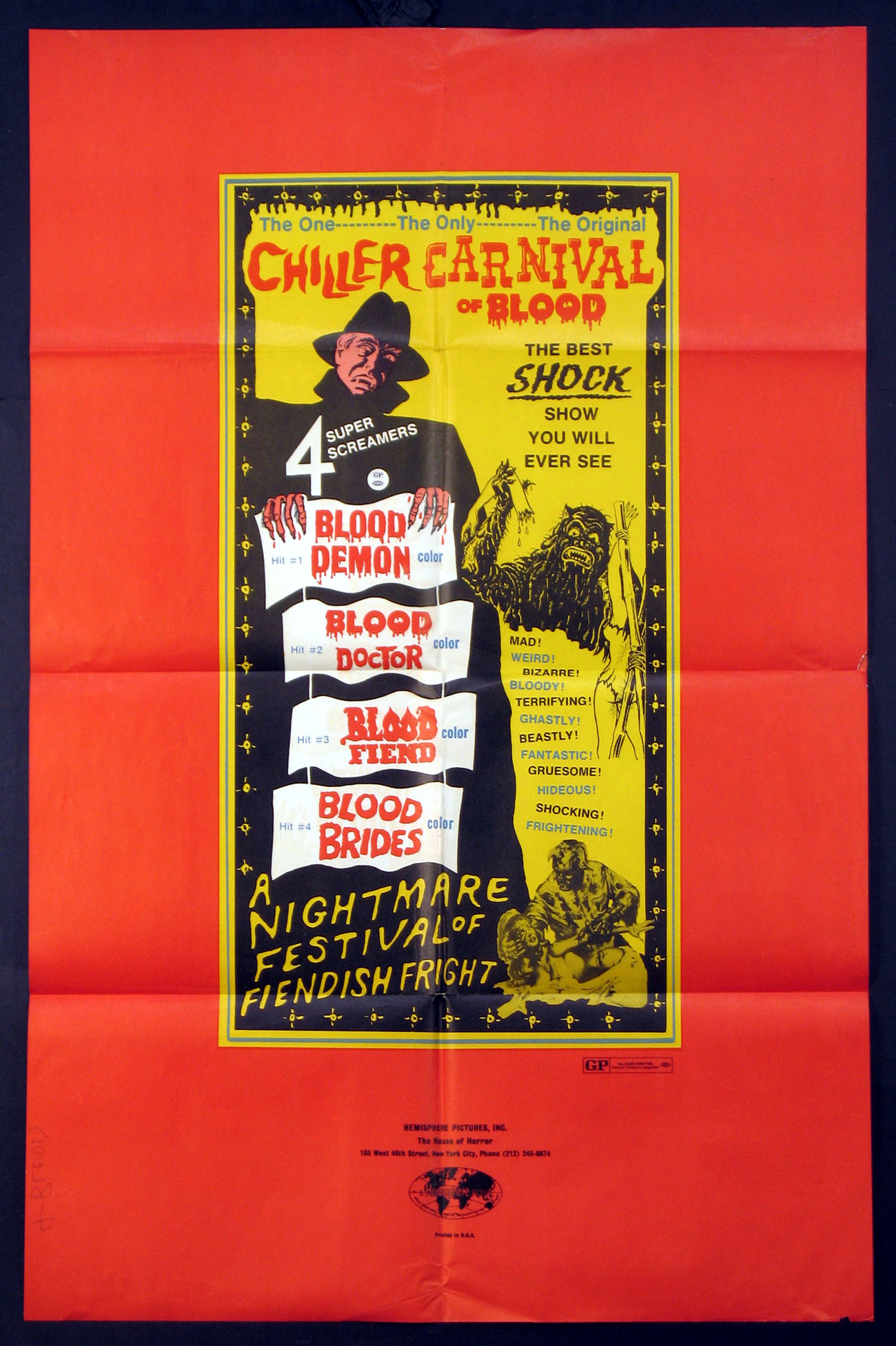 CHILLER CARNIVAL OF BLOOD @ FilmPosters.com