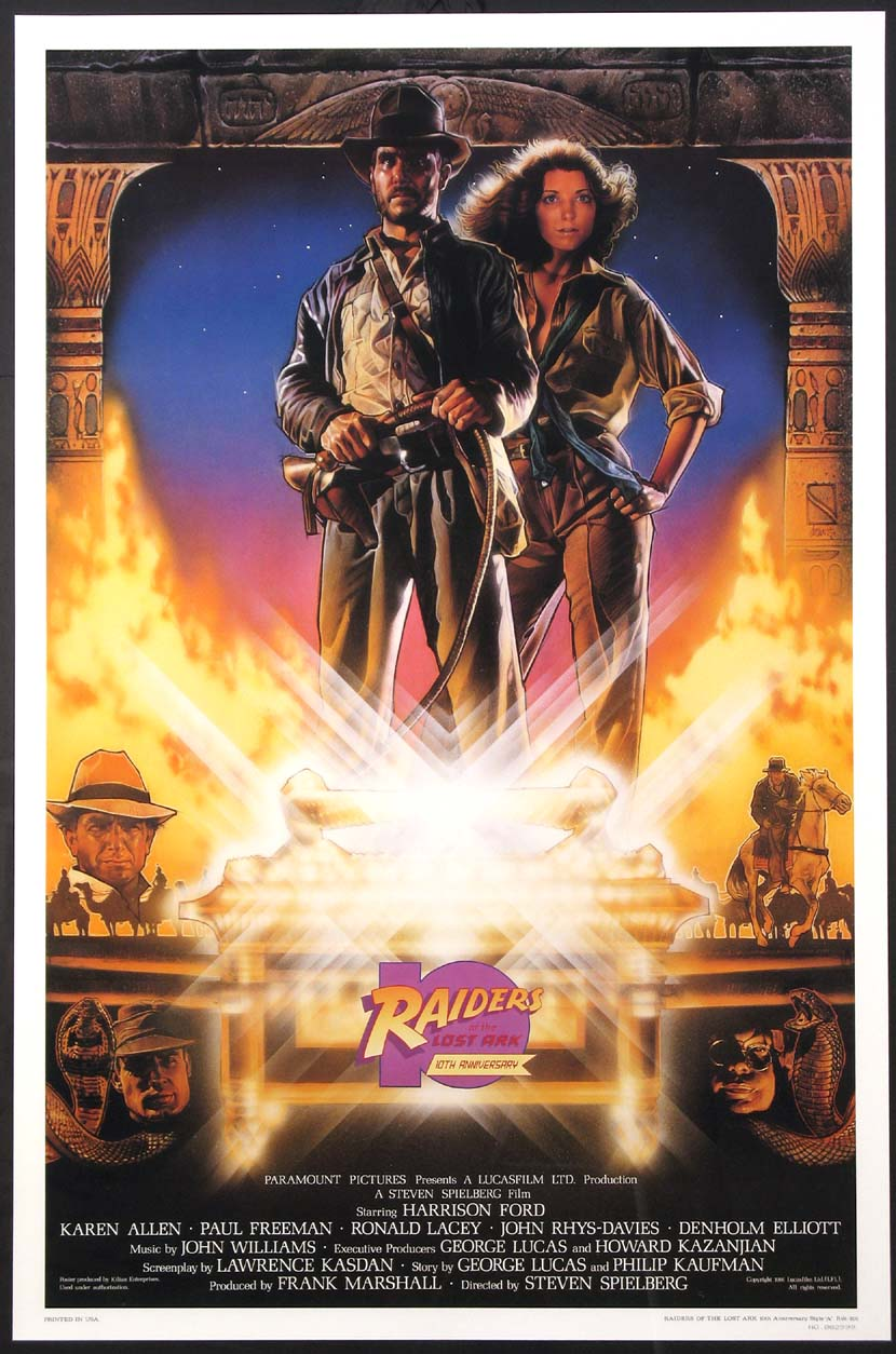 RAIDERS OF THE LOST ARK - TEN YEAR ANNIVERSARY KILIAN POSTER @ FilmPosters.com