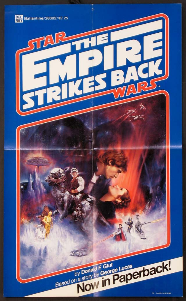 EMPIRE STRIKES BACK, THE (Star Wars) - PAPERBACK BOOK TIE-IN POSTER @ FilmPosters.com