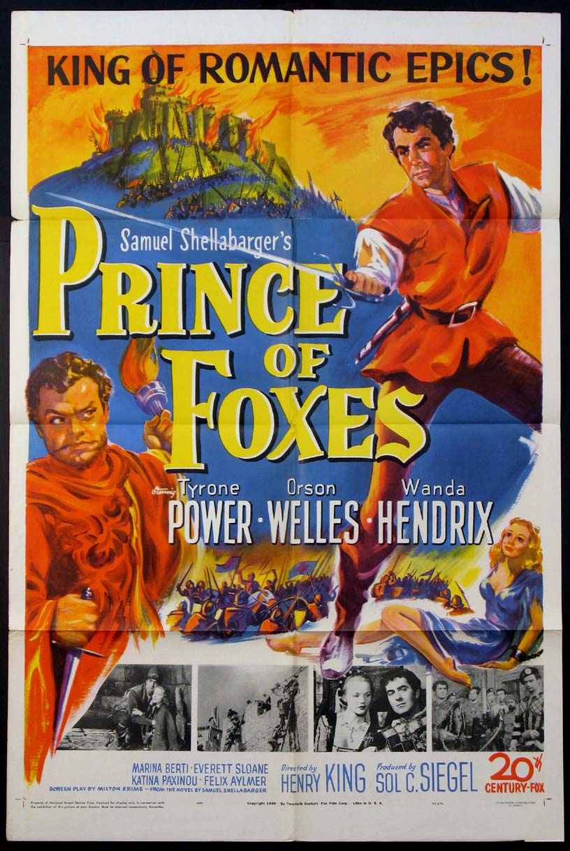 PRINCE OF FOXES @ FilmPosters.com