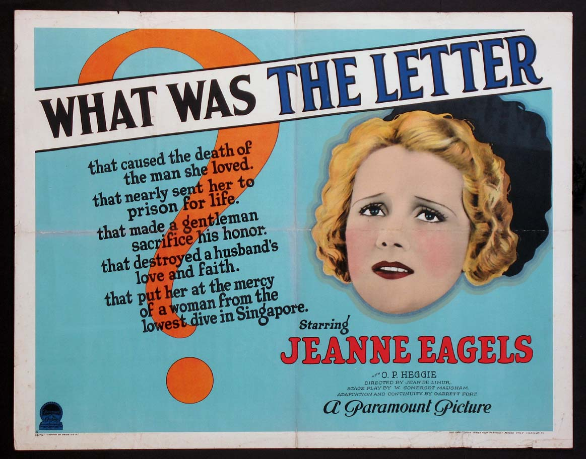 LETTER, THE (The Letter) @ FilmPosters.com