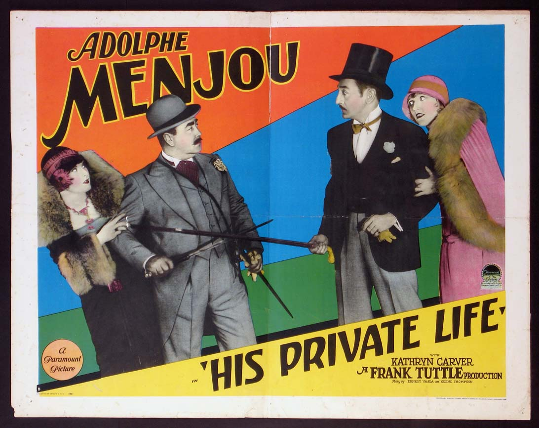 HIS PRIVATE LIFE @ FilmPosters.com