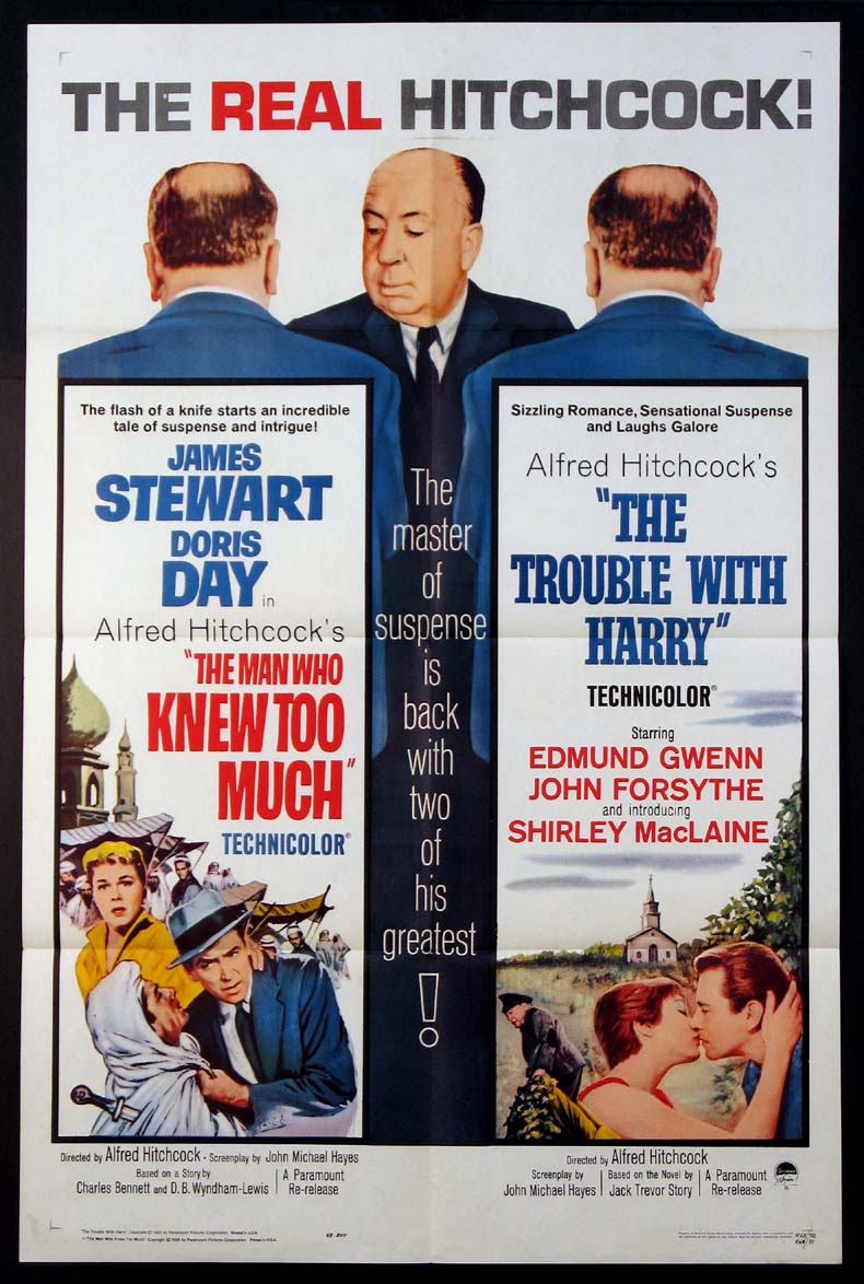 MAN WHO KNEW TOO MUCH / TROUBLE WITH HARRY @ FilmPosters.com