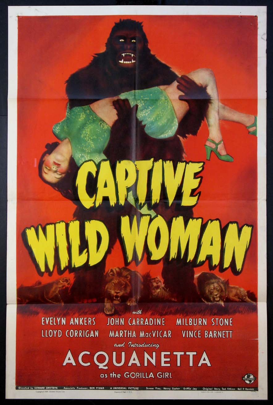 CAPTIVE WILD WOMAN @ FilmPosters.com