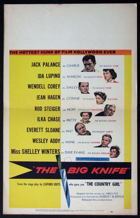 BIG KNIFE, THE @ FilmPosters.com