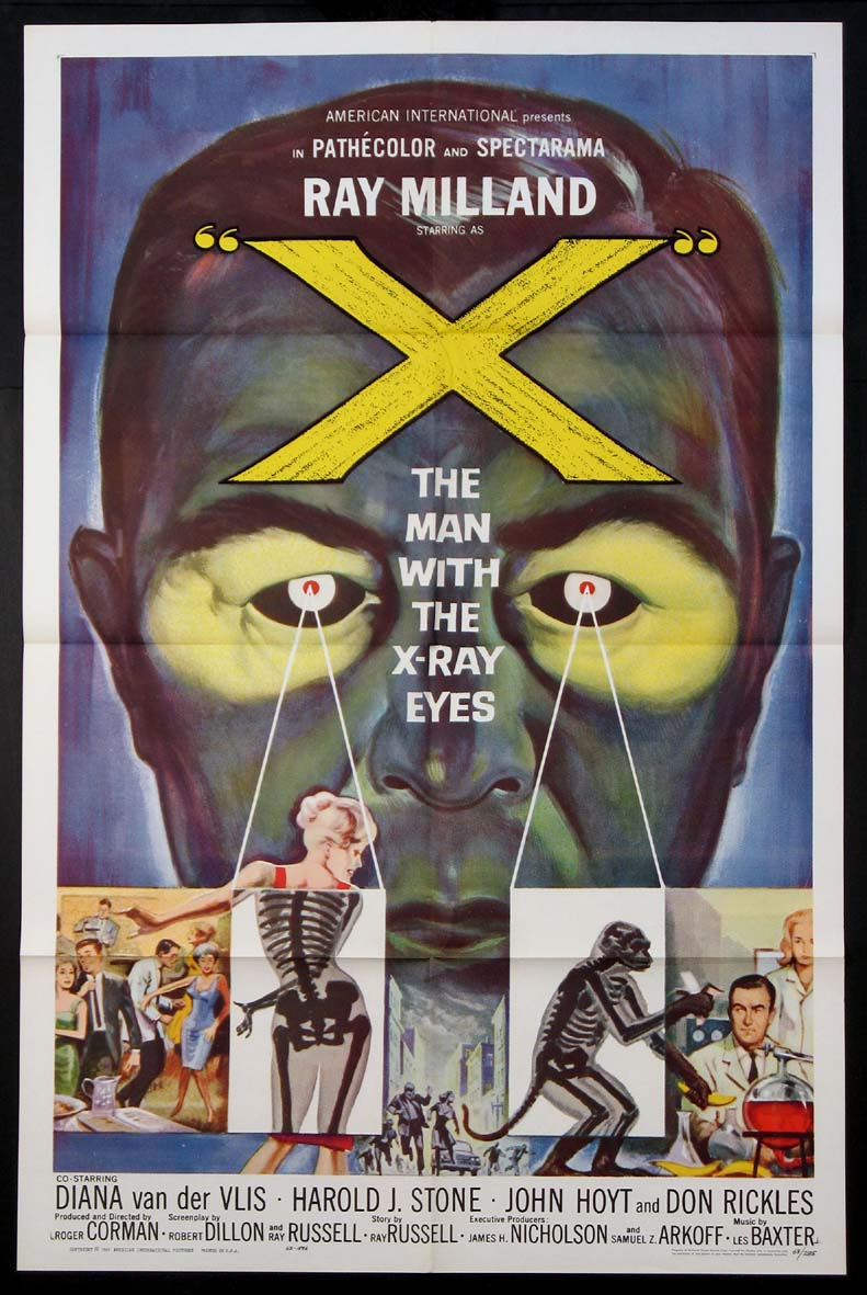 X THE MAN WITH THE X-RAY EYES @ FilmPosters.com