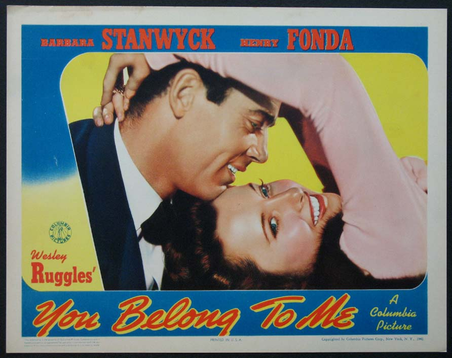 YOU BELONG TO ME @ FilmPosters.com