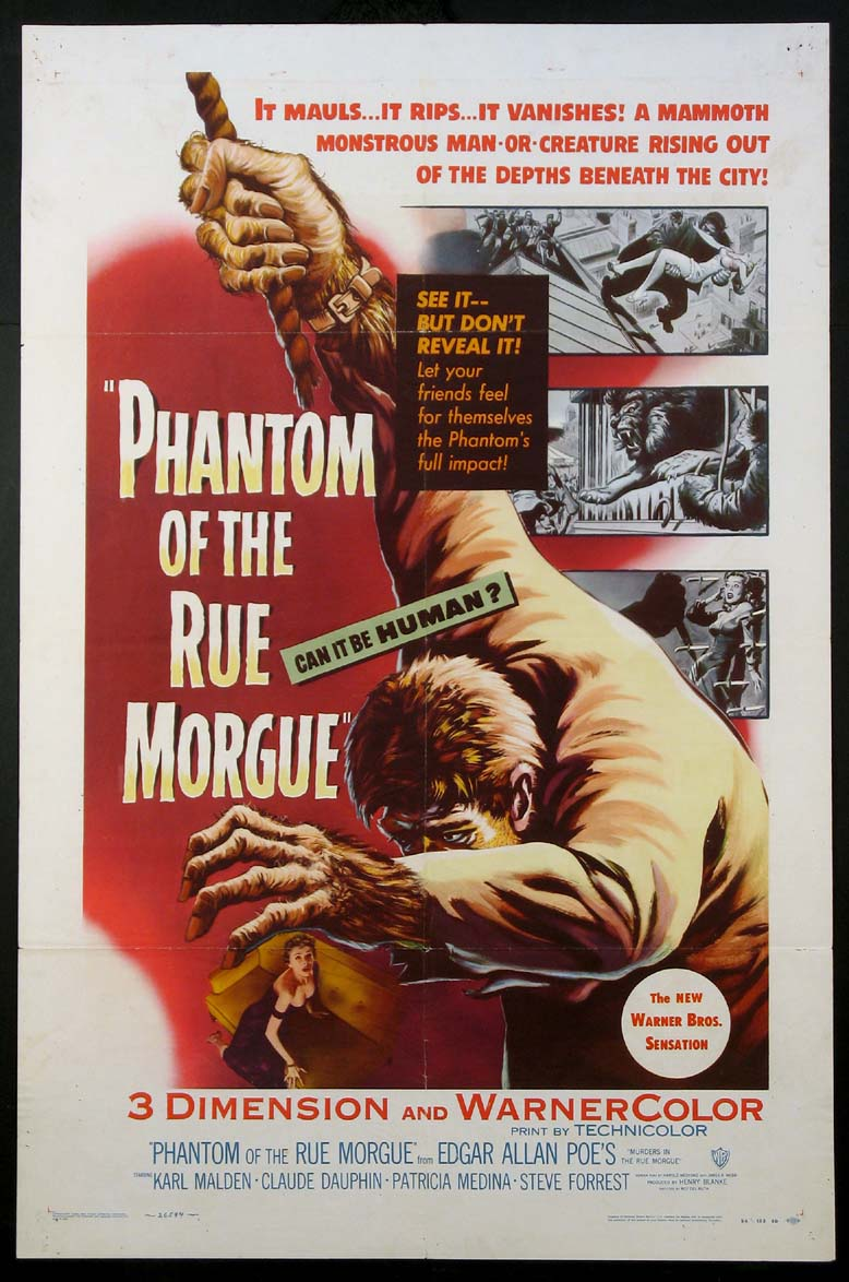 PHANTOM OF THE RUE MORGUE @ FilmPosters.com