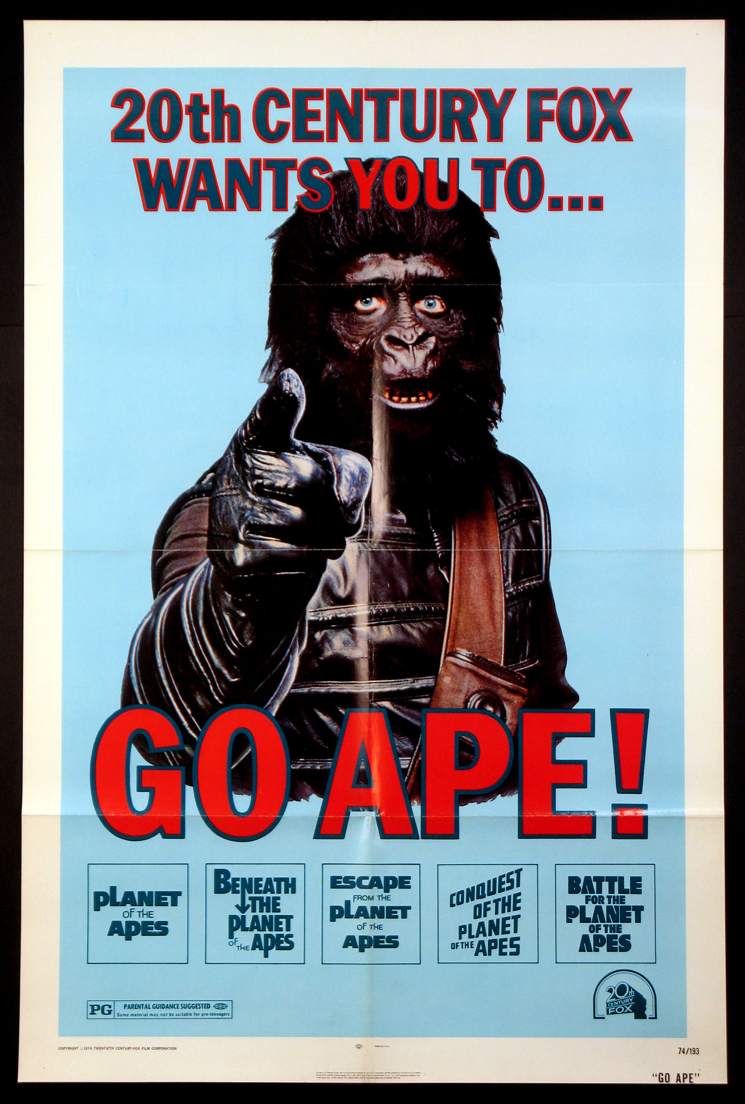 GO APE (Planet of the Apes series) @ FilmPosters.com