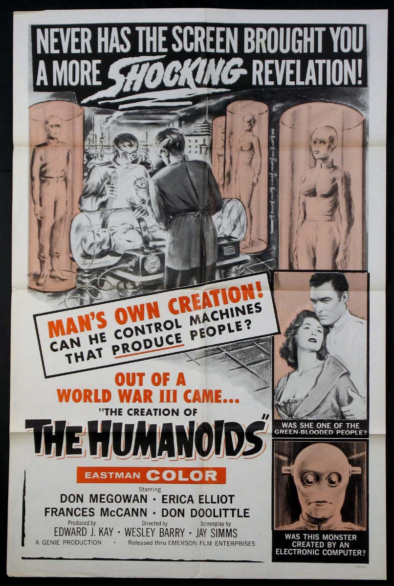 CREATION OF THE HUMANOIDS @ FilmPosters.com