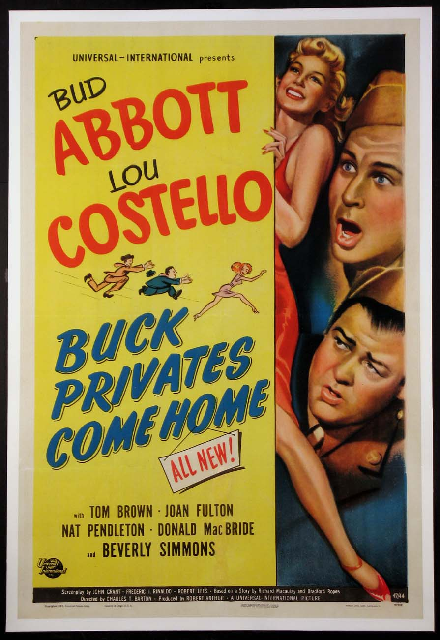 BUCK PRIVATES COME HOME (Abbott and Costello) @ FilmPosters.com