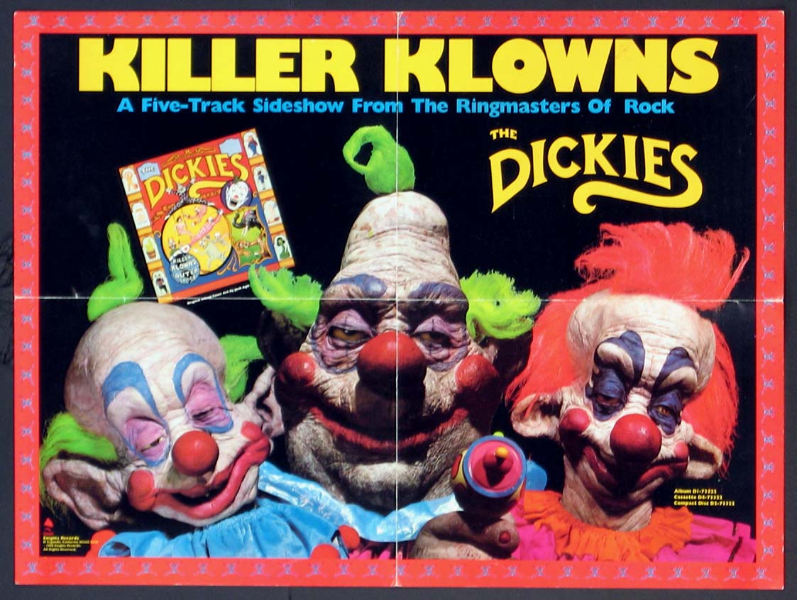 THE DICKIES KILLER KLOWNS FROM OUTER SPACE PROMOTIONAL POSTER @ FilmPosters.com