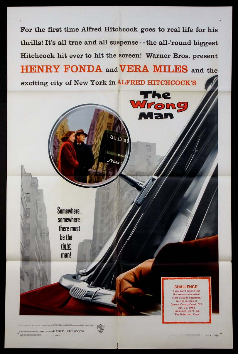 WRONG MAN, THE (The Wrong Man) @ FilmPosters.com