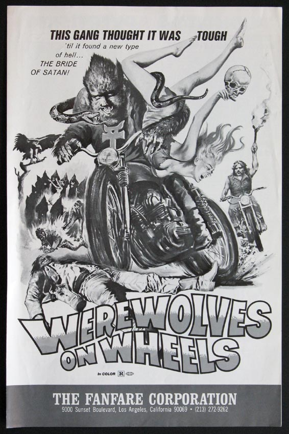 WEREWOLVES ON WHEELS @ FilmPosters.com