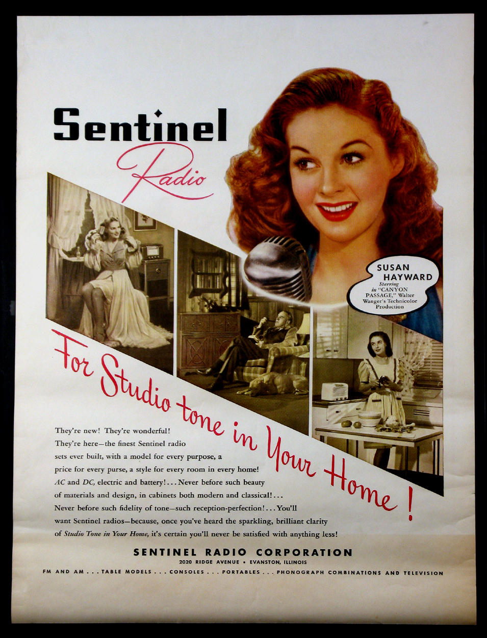 SUSAN HAYWARD FOR SENTINEL RADIOS @ FilmPosters.com