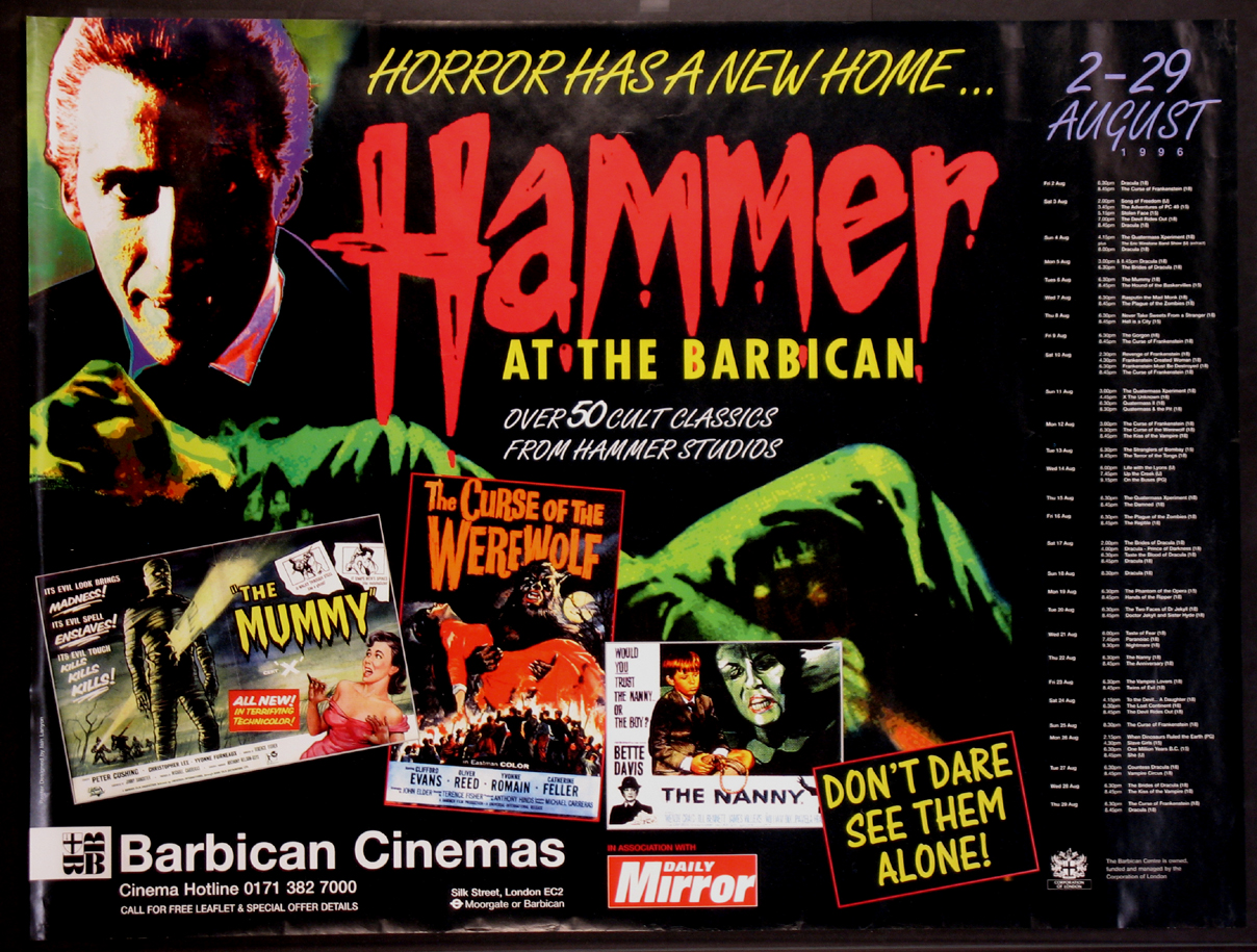 HAMMER AT THE BARBICAN FILM FESTIVAL @ FilmPosters.com