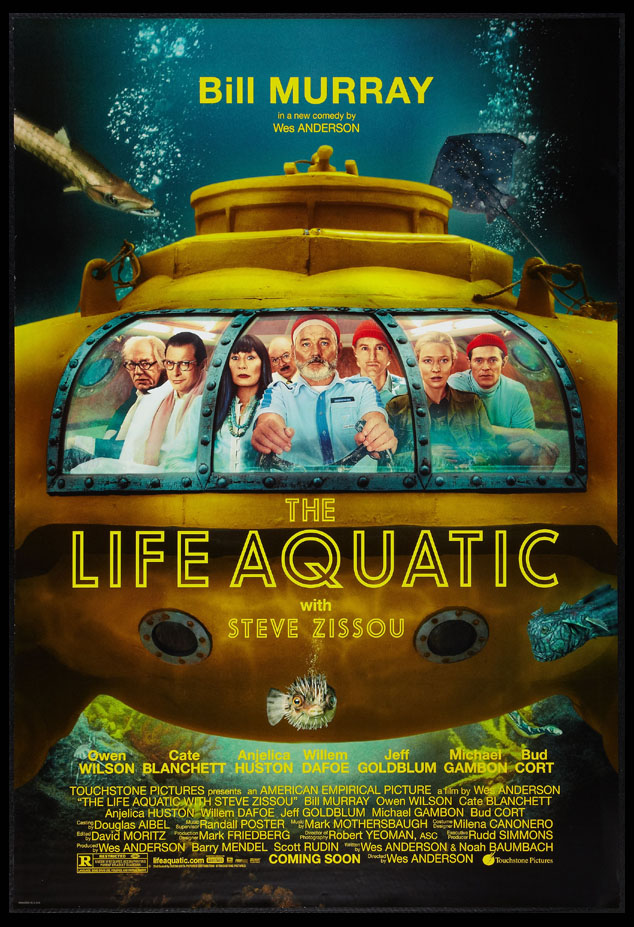 LIFE AQUATIC WITH STEVE ZISSOU @ FilmPosters.com
