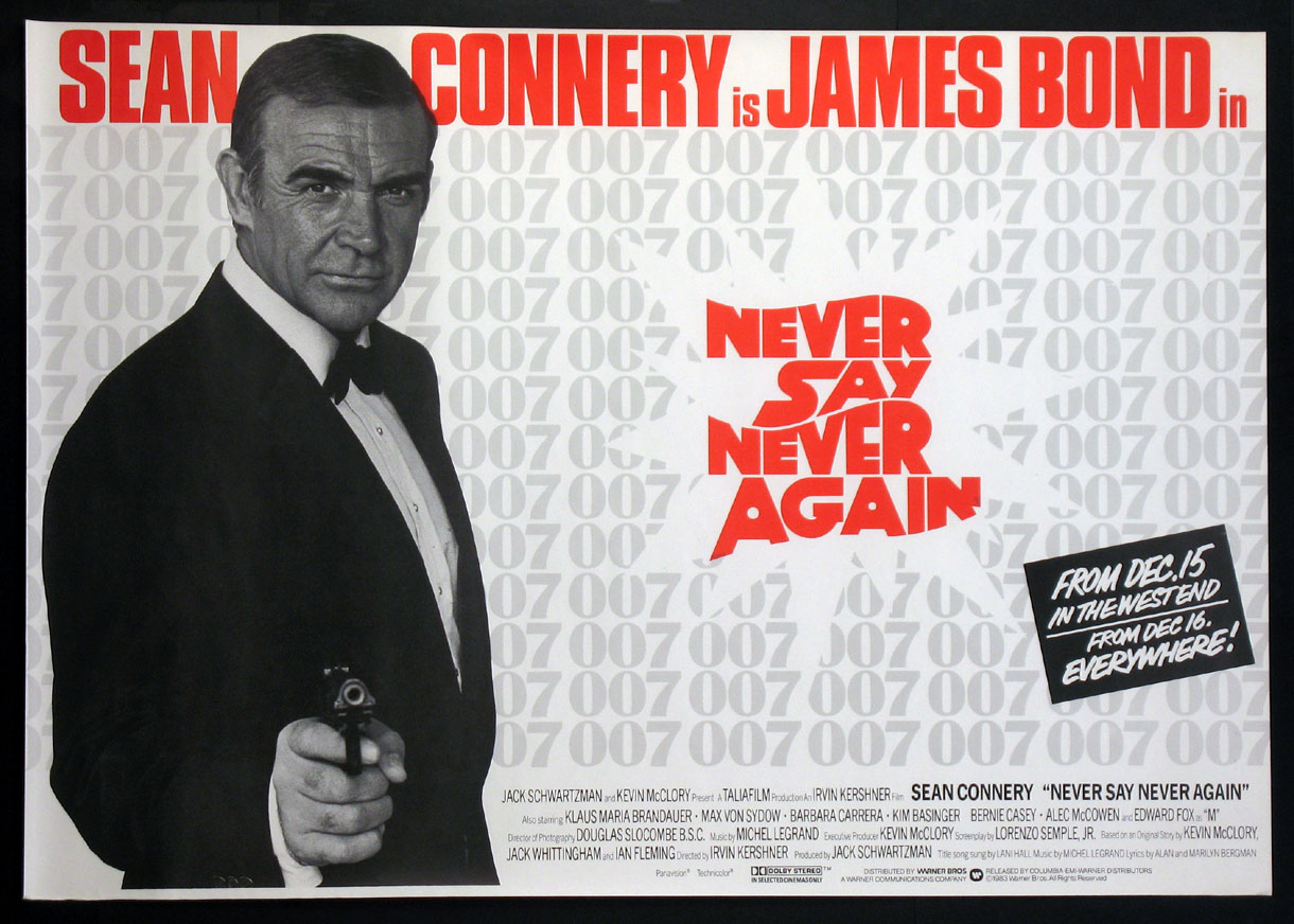 NEVER SAY NEVER AGAIN (James Bond) @ FilmPosters.com