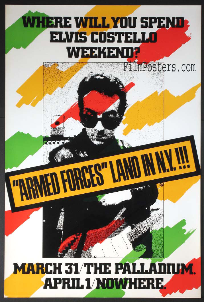 ELVIS COSTELLO ARMED FORCES VINTAGE APRIL FOOLS TOUR POSTER @ FilmPosters.com