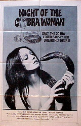 NIGHT OF THE COBRA WOMAN @ FilmPosters.com