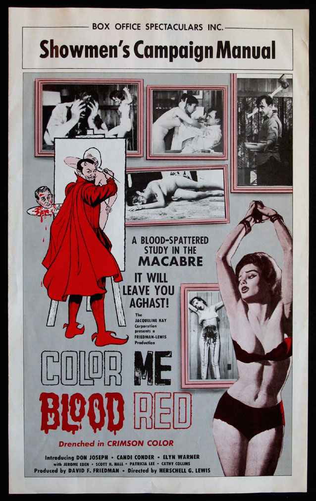 COLOR ME BLOOD RED @ FilmPosters.com