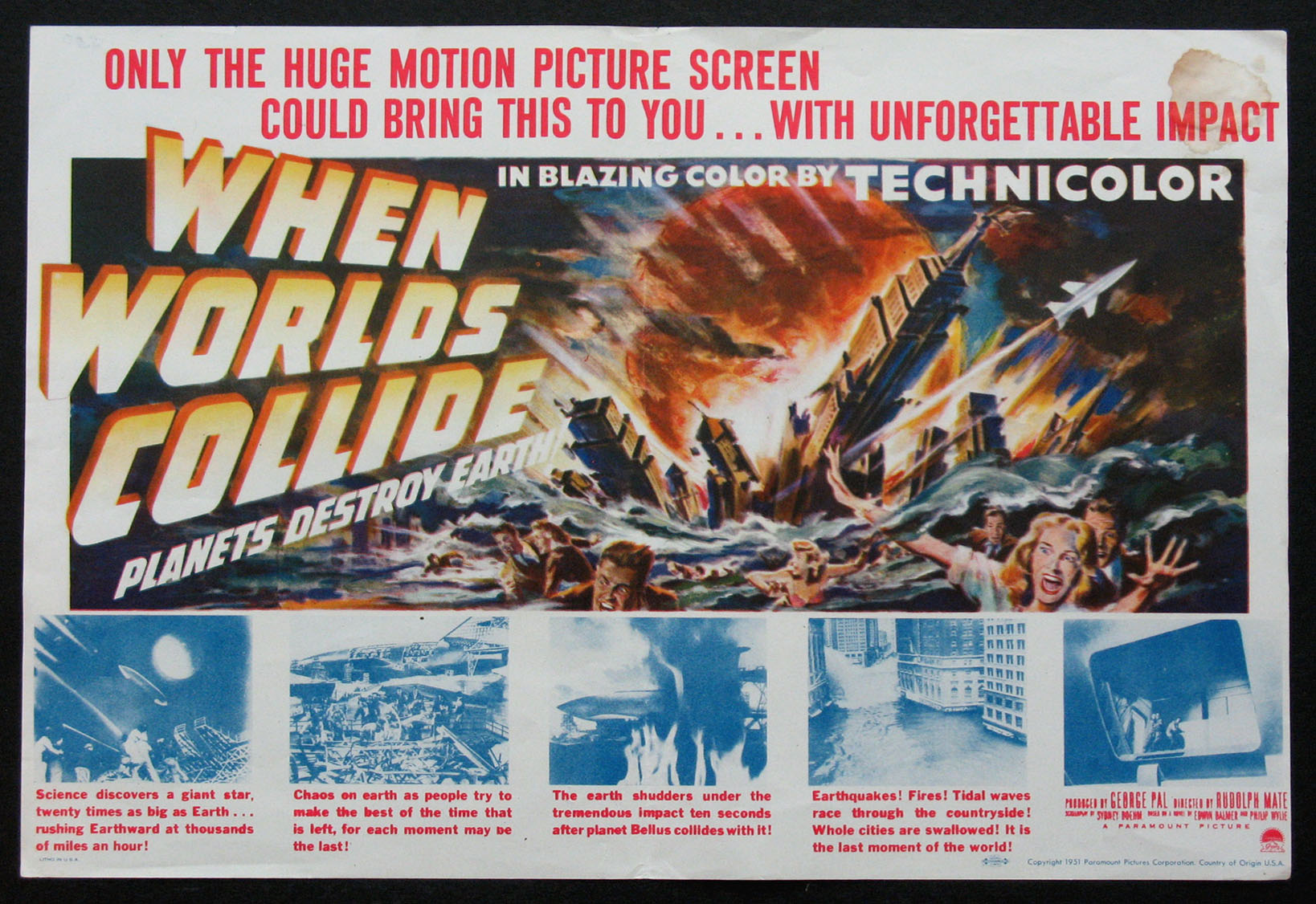 WHEN WORLDS COLLIDE @ FilmPosters.com