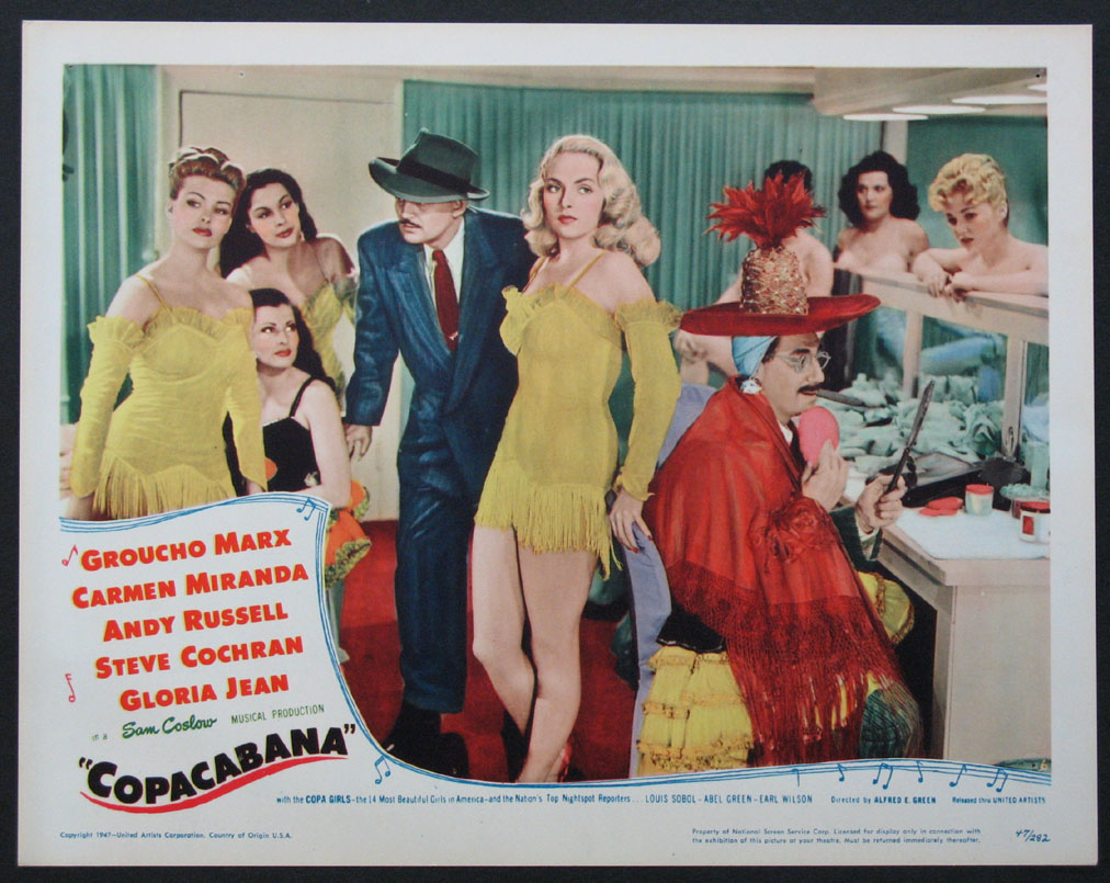 COPACABANA Movie Poster (1947) - Movie Posters, Lobby Cards ...