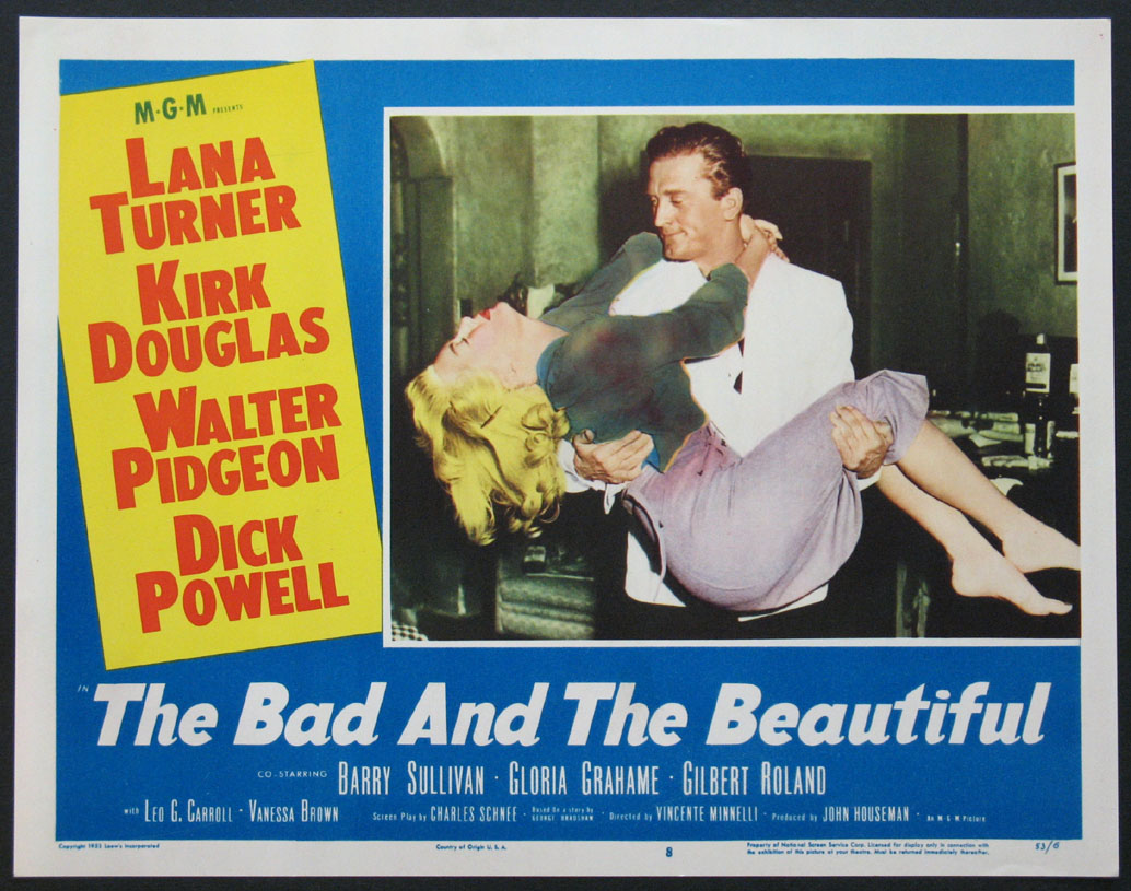 THE BAD AND THE BEAUTIFUL MOVIE POSTER Kirk Douglas