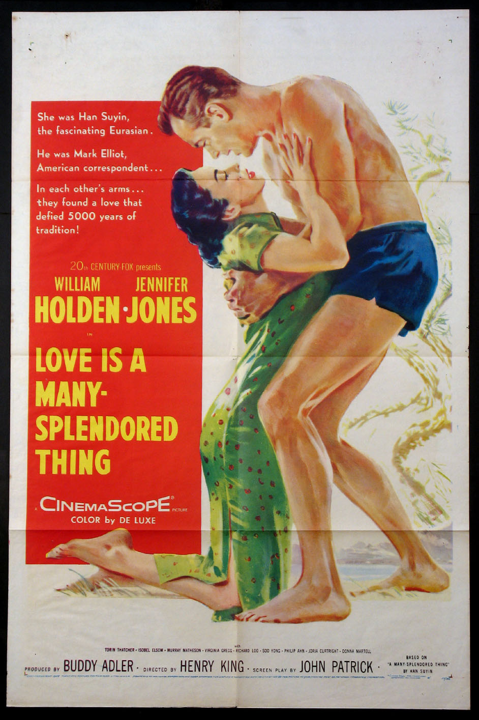 Risultati immagini per love is a many-splendored thing 1955