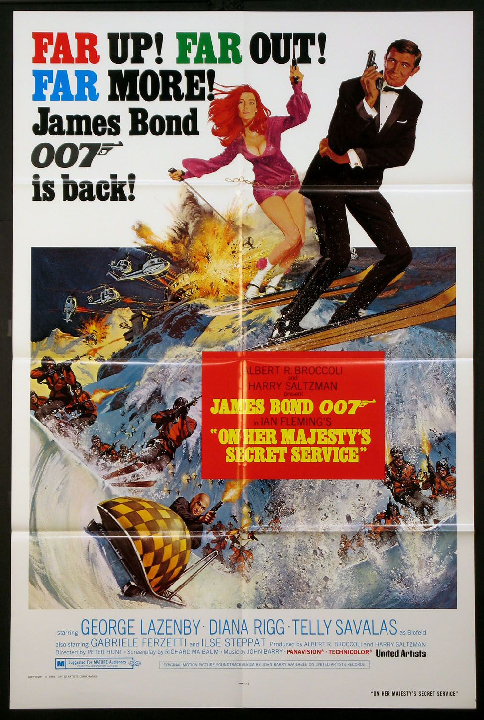ON HER MAJESTY'S SECRET SERVICE (James Bond series) @ FilmPosters.com