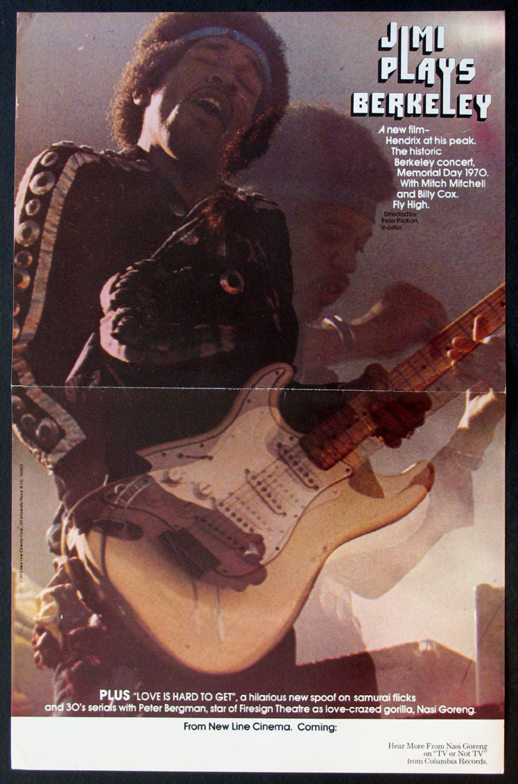 JIMI PLAYS BERKELEY @ FilmPosters.com