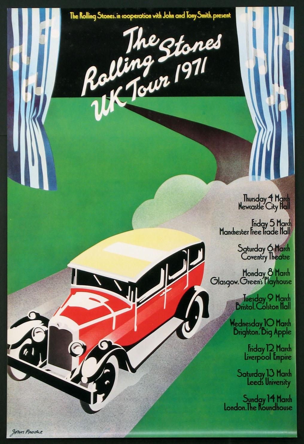 ROLLING STONES VINTAGE 1971 UK TOUR POSTER @ FilmPosters.com