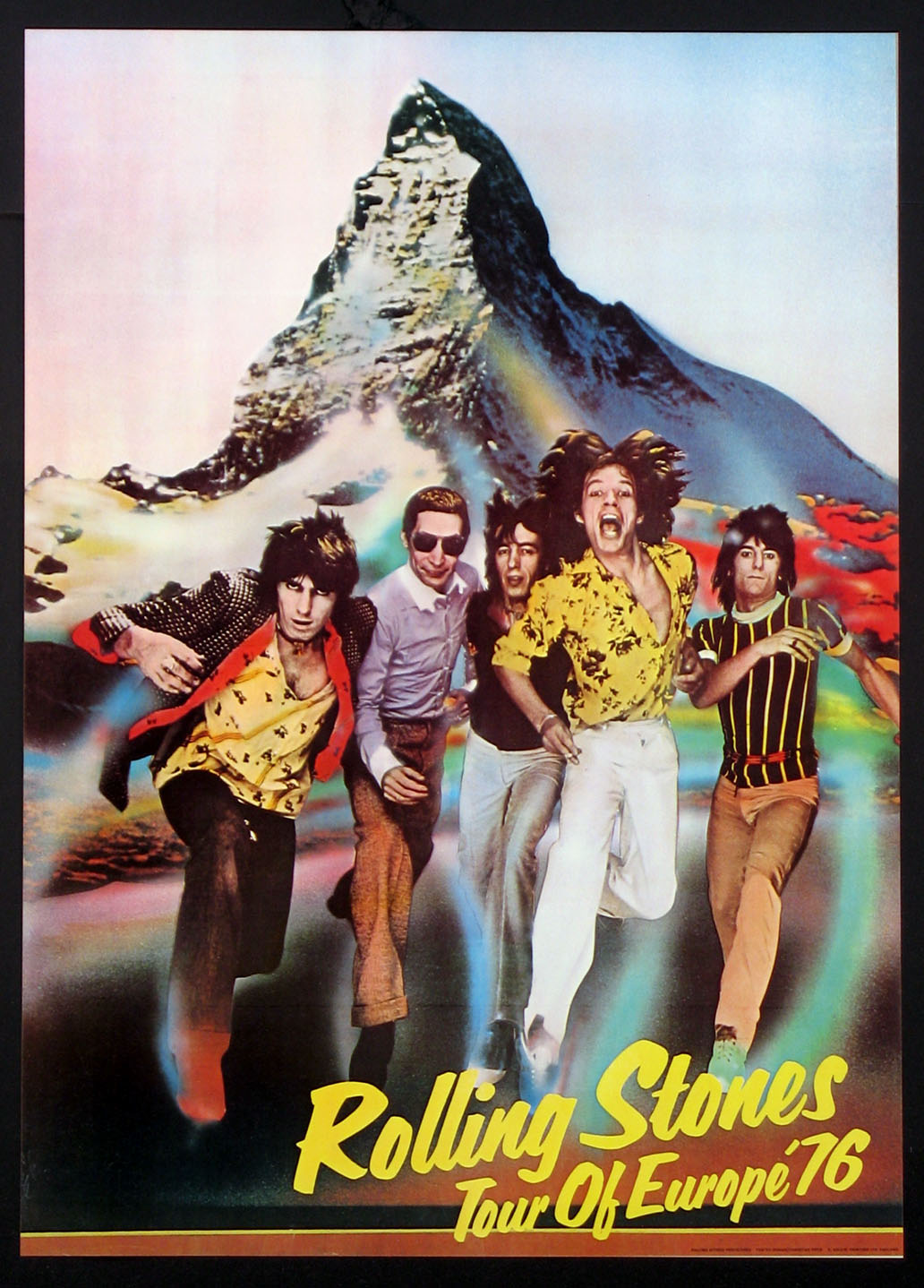 ROLLING STONES VINTAGE 1976 TOUR OF EUROPE POSTER @ FilmPosters.com