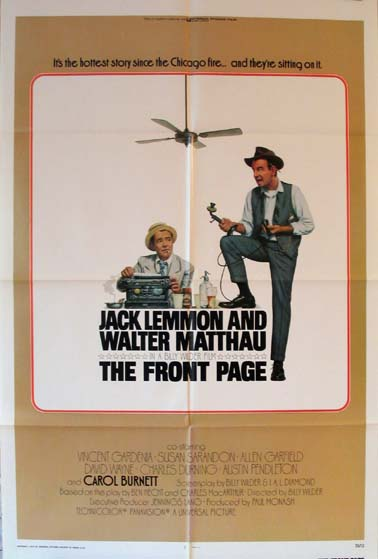 FRONT PAGE, THE (The Front Page) @ FilmPosters.com