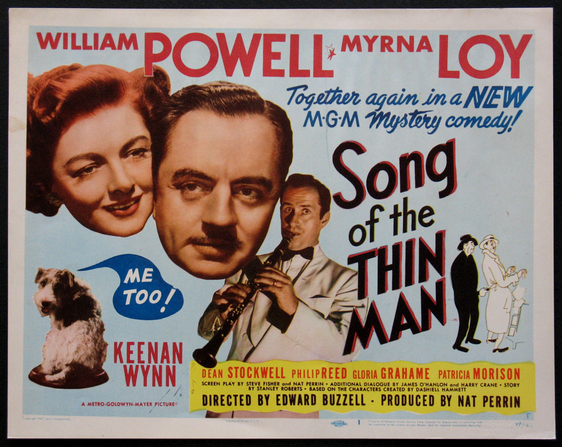 SONG OF THE THIN MAN @ FilmPosters.com