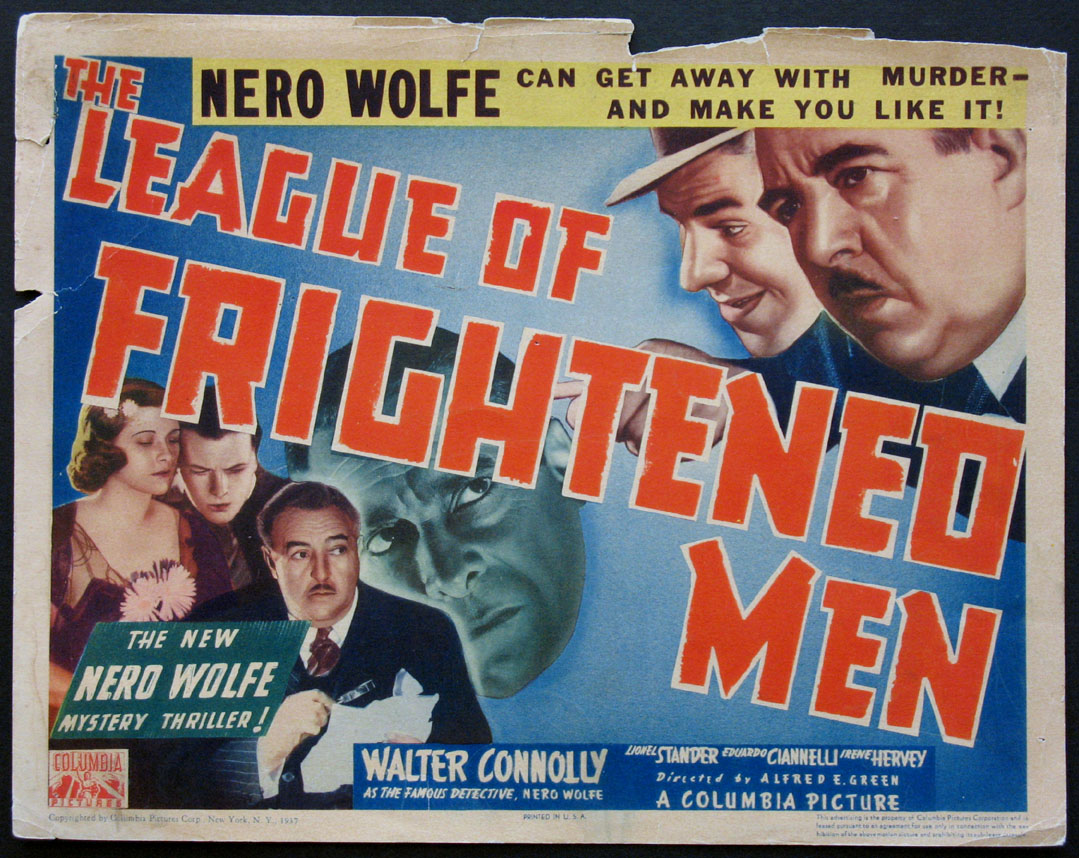 LEAGUE OF FRIGHTENED MEN (Nero Wolfe series) @ FilmPosters.com