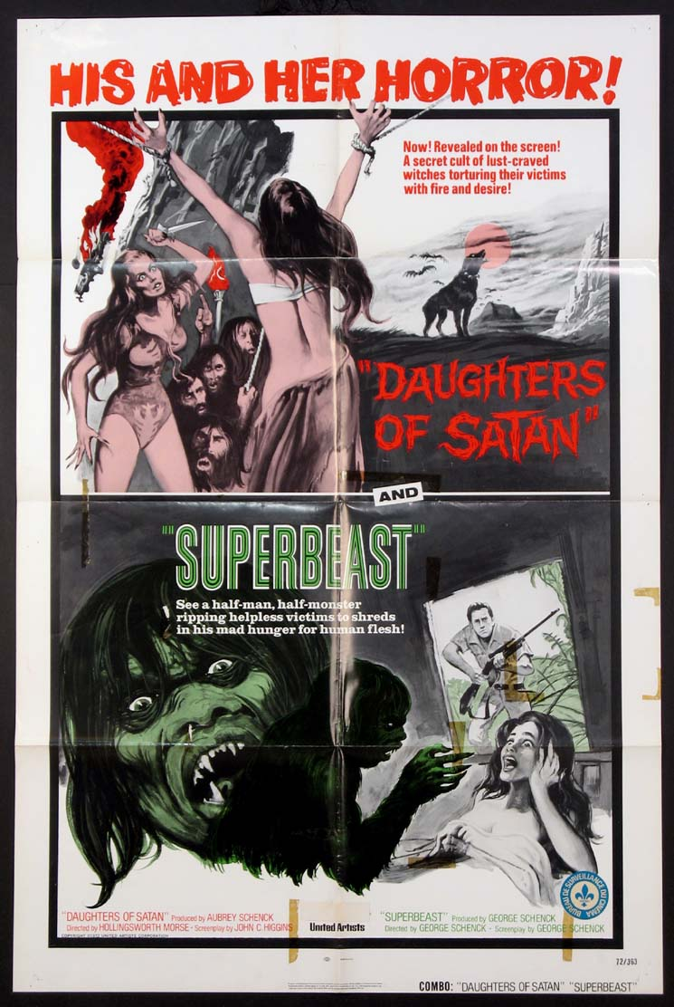 DAUGHTERS OF SATAN / SUPERBEAST @ FilmPosters.com