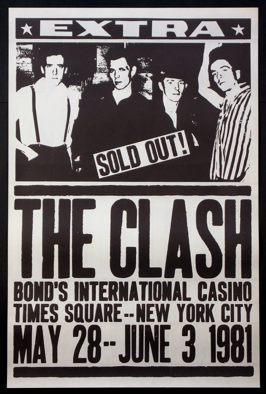 THE CLASH AT BONDS VINTAGE CONCERT POSTER Movie Poster (1981) - Movie  Posters, Lobby Cards, Vintage Movie Memorabilia - 1920s to present @ Film  Posters
