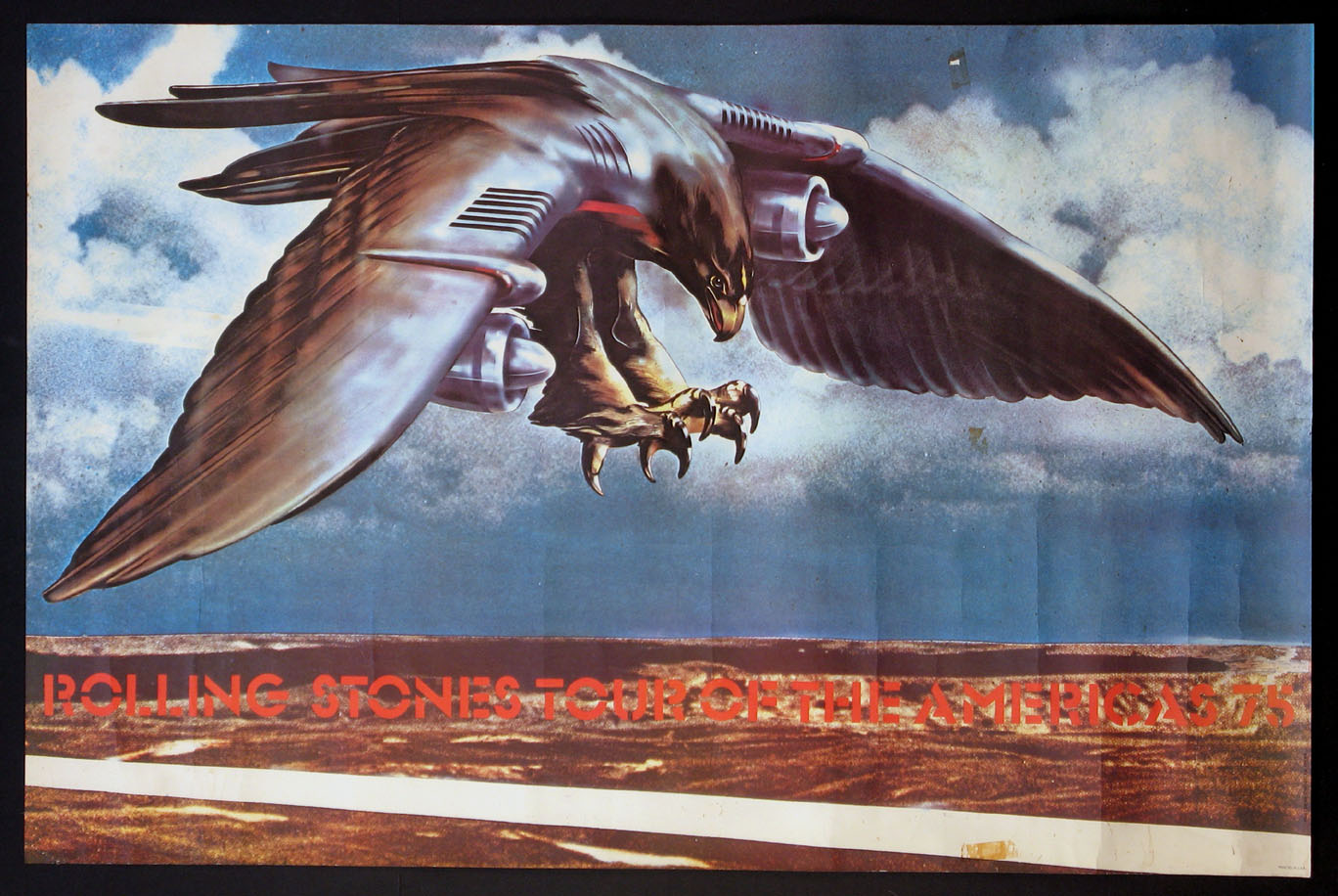 ROLLING STONES VINTAGE 1975 TOUR OF THE AMERICAS POSTER @ FilmPosters.com