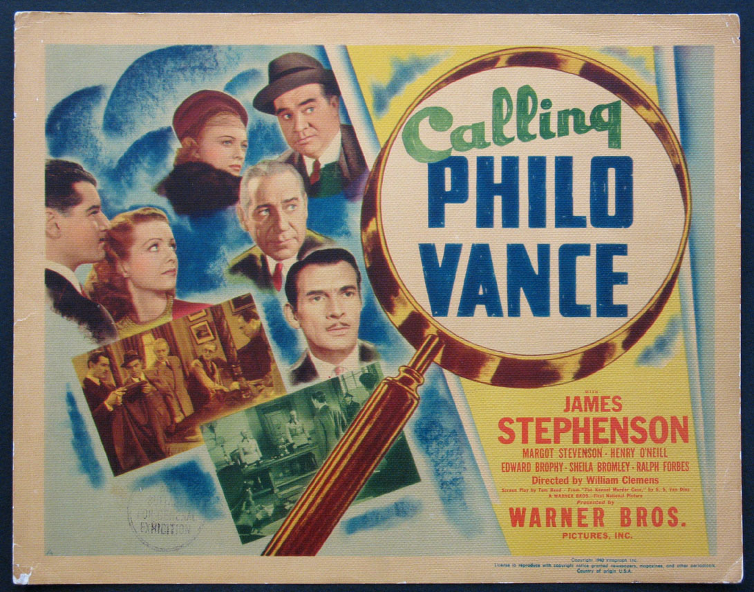 CALLING PHILO VANCE @ FilmPosters.com