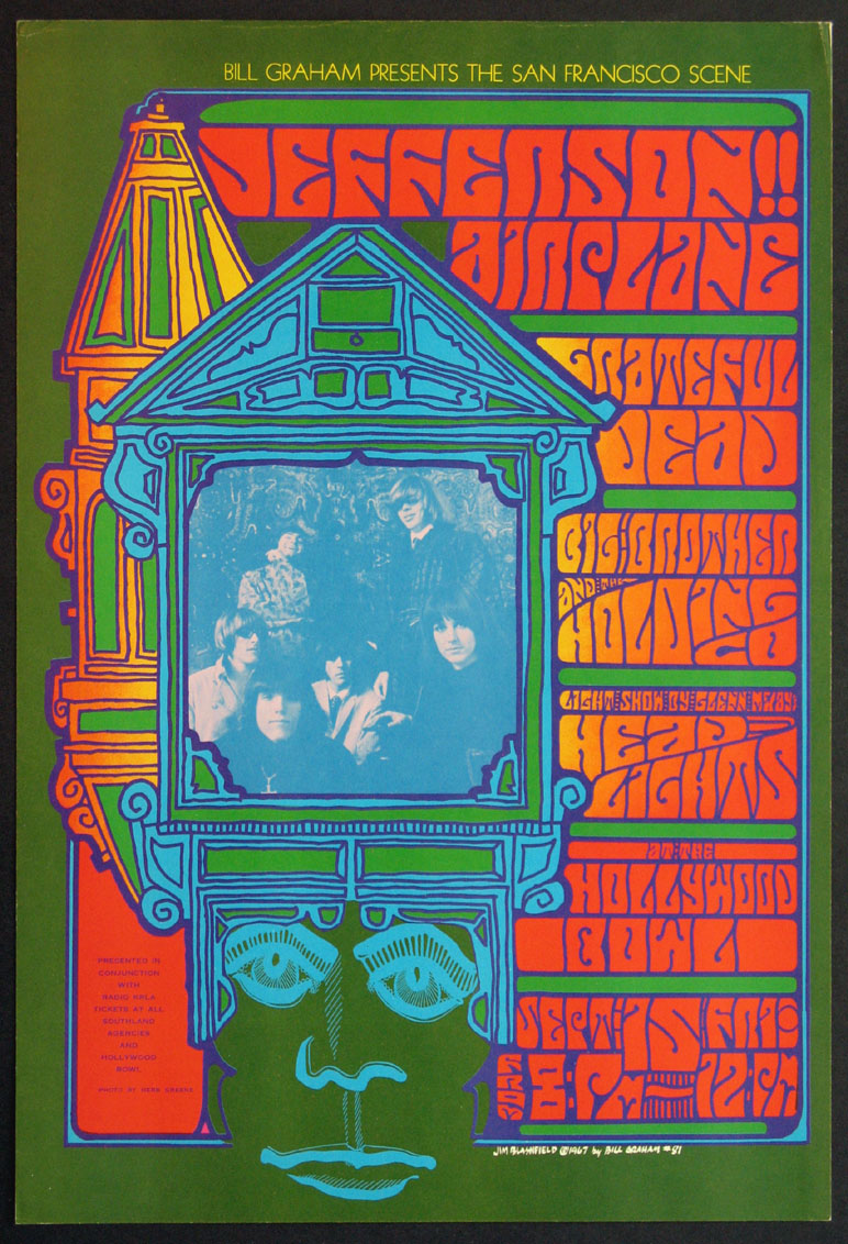 JEFFERSON AIRPLANE GRATEFUL DEAD VINTAGE CONCERT POSTER @ FilmPosters.com
