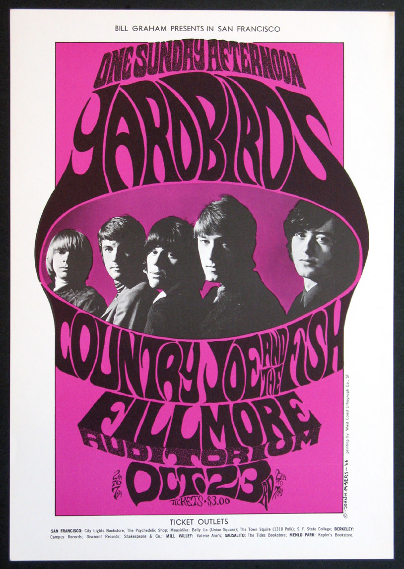 THE YARDBIRDS VINTAGE CONCERT POSTER @ FilmPosters.com