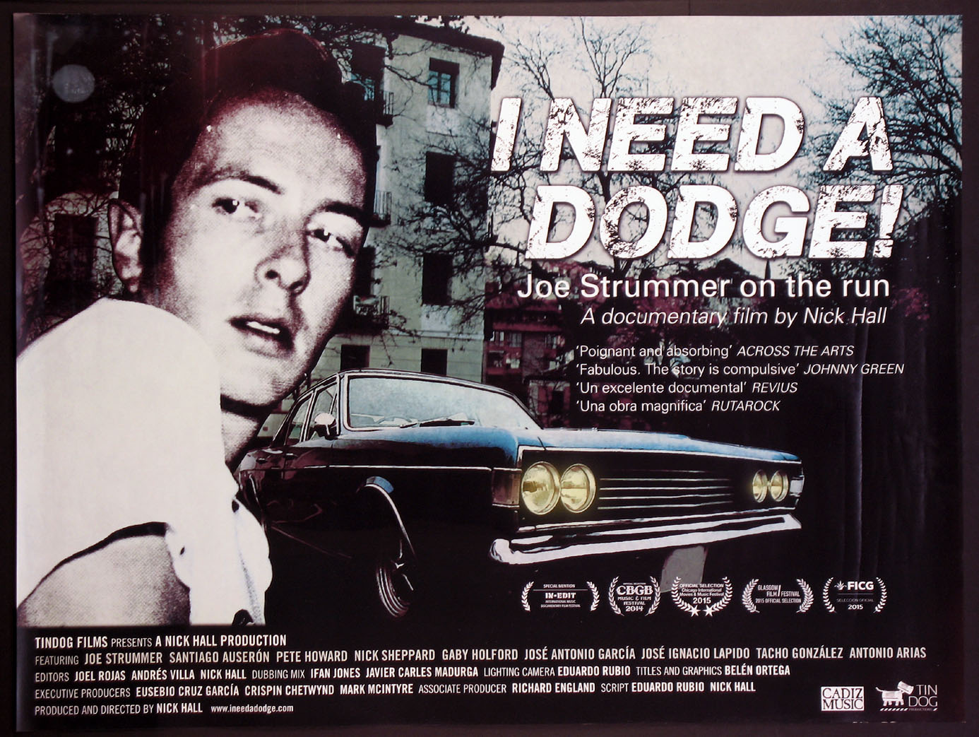 I NEED A DODGE! JOE STRUMMER ON THE RUN @ FilmPosters.com