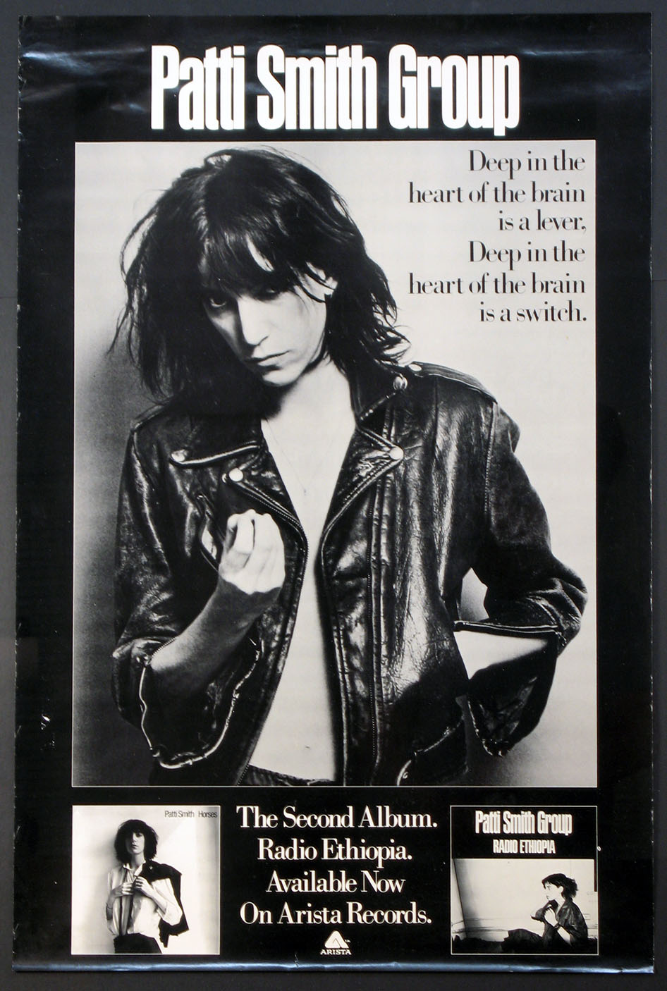 PATTI SMITH RADIO ETHIOPIA ALBUM PROMOTIONAL POSTER FEATURING MAPPLETHORPE PHOTO @ FilmPosters.com