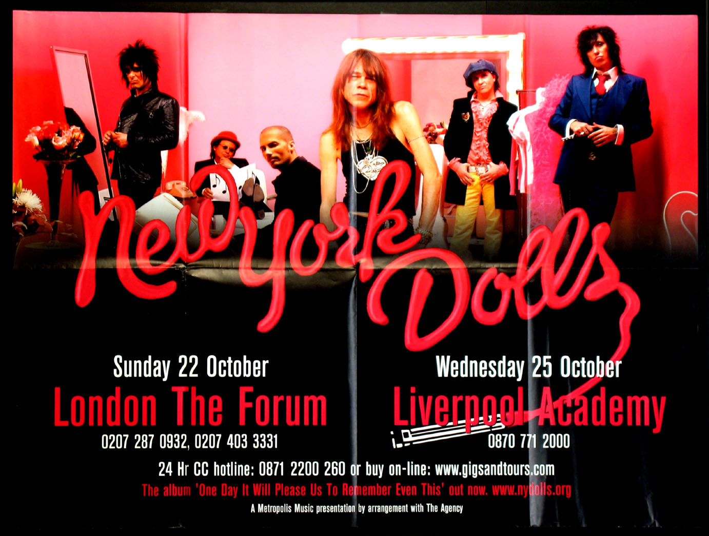 THE NEW YORK DOLLS ORIGINAL 2006 CONCERT POSTER @ FilmPosters.com